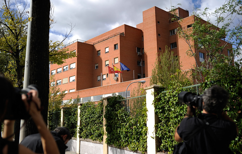 . View of the Carlos III hospital where a nurse is being treated after testing positive for the virus Ebola on October 7, 2014 in Madrid, Spain.  (Photo by Denis Doyle/Getty Images)