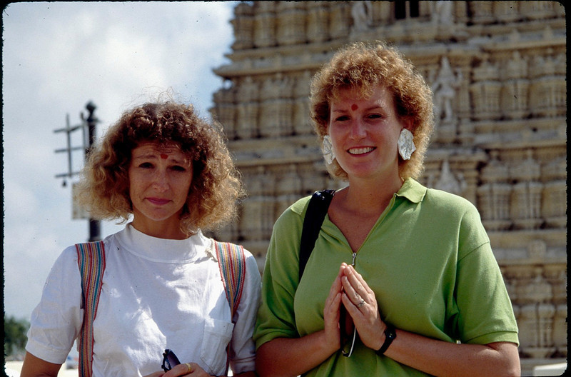 Bobbi and Sue with bindis