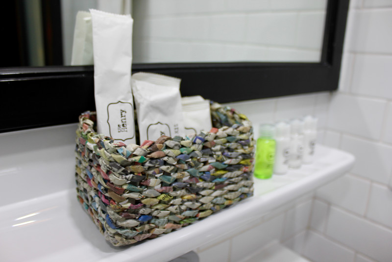 toiletries in the bathroom at the Henry Hotel Manila