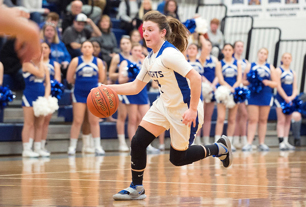 03/03/20 Wesley Bunnell | StaffrrSouthington girls basketball vs Middletown on Monday night March 2, 2020. Livvy Pizzitola (4).