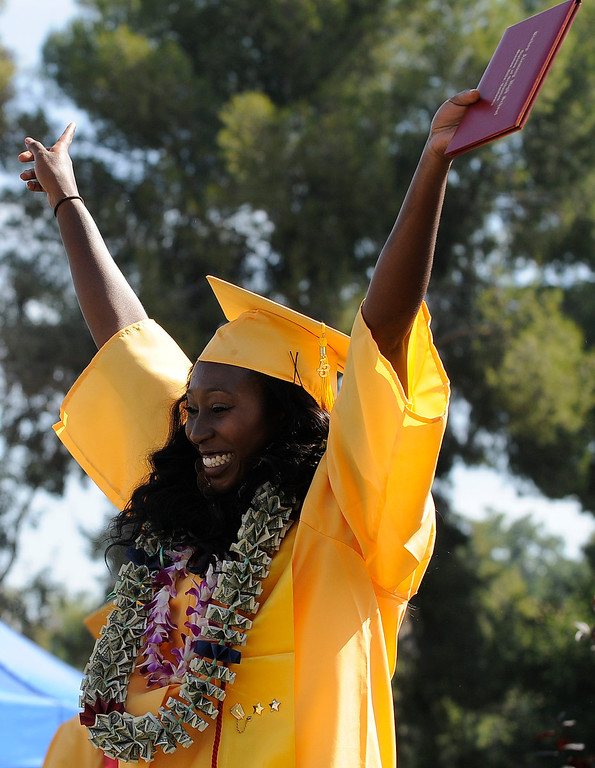 . Maya Donnelly is happy to have graduated. The Commencement Exercises for the Bishop Alemany High School Class of 2013 was held at College of the Canyons in Santa Clarita, CA 6/1/2013(John McCoy/LA Daily News)