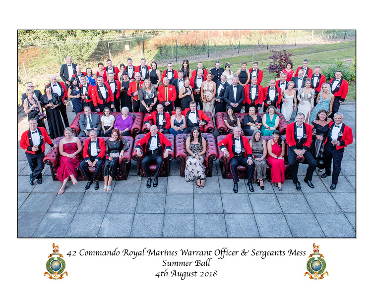 42 Commando WO and Sgt Mess Summer Ball 2018 (Casino Royal)
