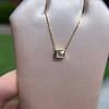.70ct French Cut Diamond Bezel Pendant, 18kt Yellow Gold 17