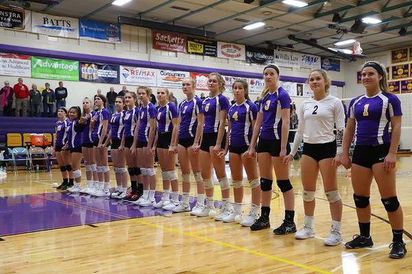 Volleyball Districts vs Schoolcraft KCHS 11/7/19