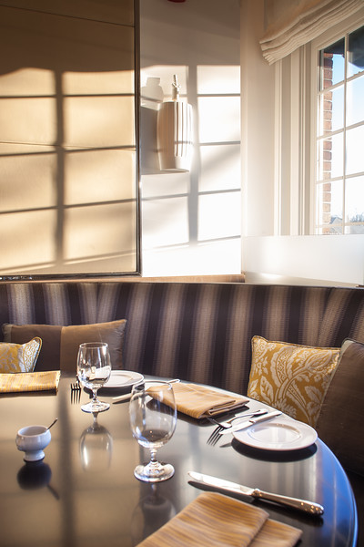 The Bocuse Restaurant in afternoon winter light