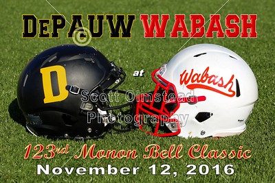 2016 DePauw at Wabash, The 123rd Monon Bell Classic (11-12-16)