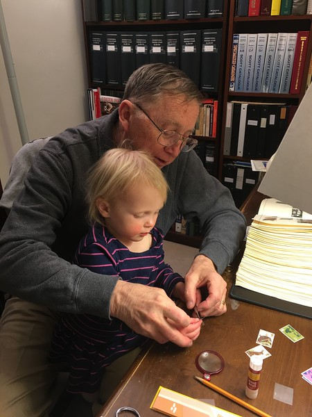 20160304 027 Kate helps Grandpa with stamps.JPG