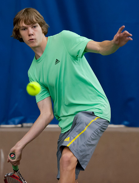 Alex Hall from Bonneville High School participates in the tennis program at Ogden Athletic Club.  The program is producing high caliber athletes. In Ogden, On February 24, 2014. (Brian Wolfer Special to the Standard-Examiner)