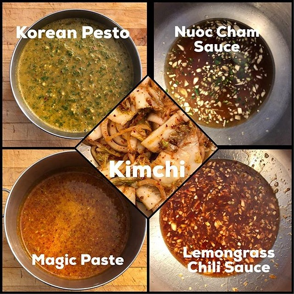 "On the table tomorrow: first crack at recipes from @chefbillkim's new #KoreanBBQ book using some of the ""master"" sauces (all super easy lemongrass was the toughest ingredient to find!)"