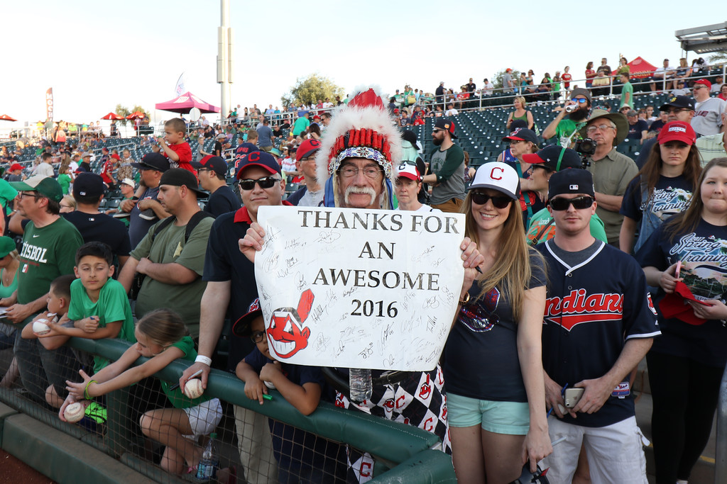 . Scenes from the Indians\' spring training game against the Reds on March 17, 2017, in Goodyear, Ariz. (Tim Phillis - The News-Herald)