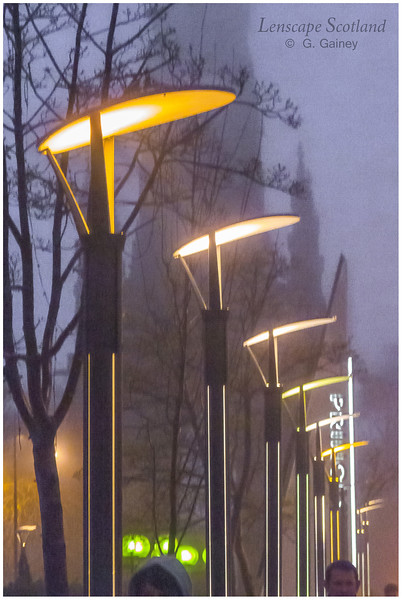 Princes Street lamps on a misty evening (1)