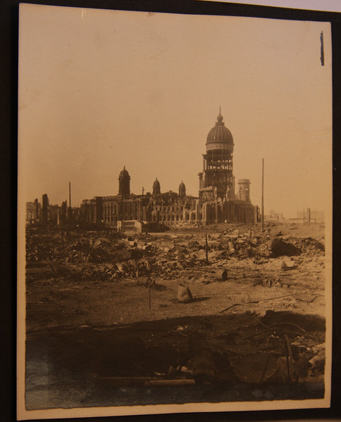 San Francisco City Hall 4/18/1906 after the earthquake and fire
