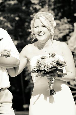 Ceremony - Here Comes the Bride - Black & White