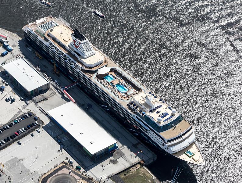 Luftbild Kreuzfahrt Terminal Hafen City Hamburg