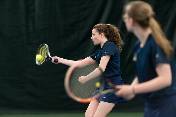 04/26/19 Wesley Bunnell | Staff Newington girls tennis vs Maloney on Friday afternoon at the Newington Tennis Center. Lindsay Weaver plays in the #1 doubles.