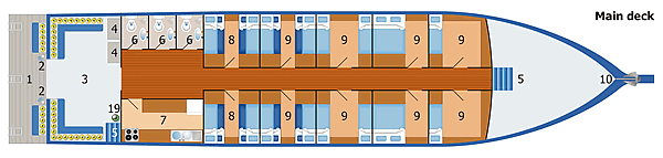 MV Dolphin Queen Main Deck Plan