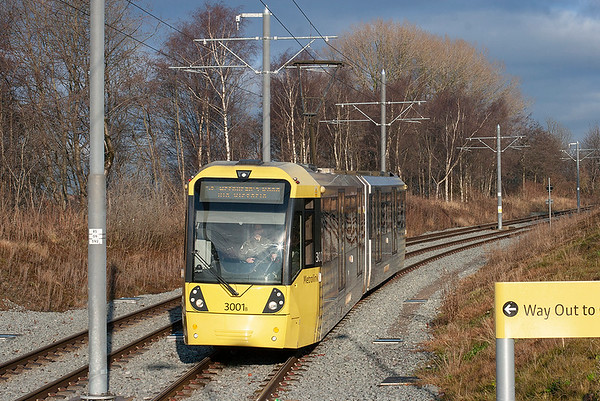 18th December 2012: Manchester Metrolink Oldham Extension