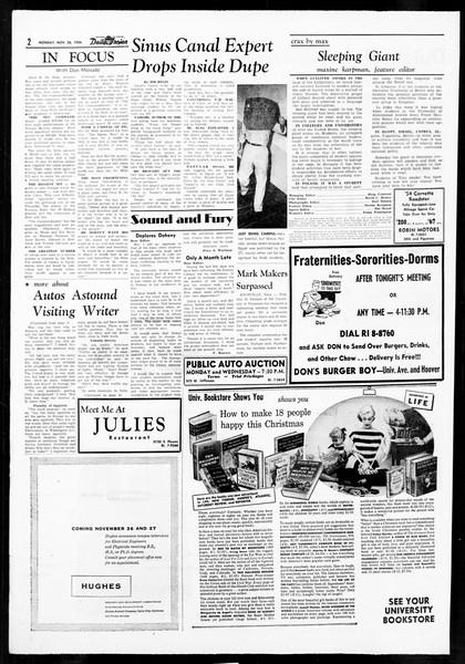Daily Trojan, Vol. 48, No. 45, November 26, 1956