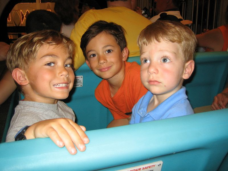 "Riding ""It's A Small World."" Harry looks scared."