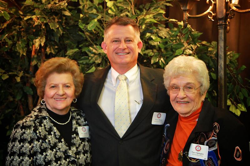 Dot Spangler, Terry Roach, Faye Spangler. Scholarship Luncheon at Gardner-Webb University.