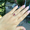 2.17ct Diamond & Spinel 3-Stone Ring 8