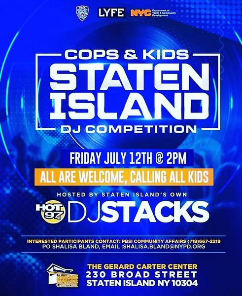 COPS & KIDS DJ BATTLE  STATEN ISLAND