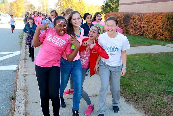 Samoset Middle School Pink Walk