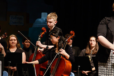 Daniel in TJHS Orchestra concert May 11, 2017