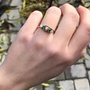 .45ctw Victorian 5 Stone OEC and Emerald Band 7