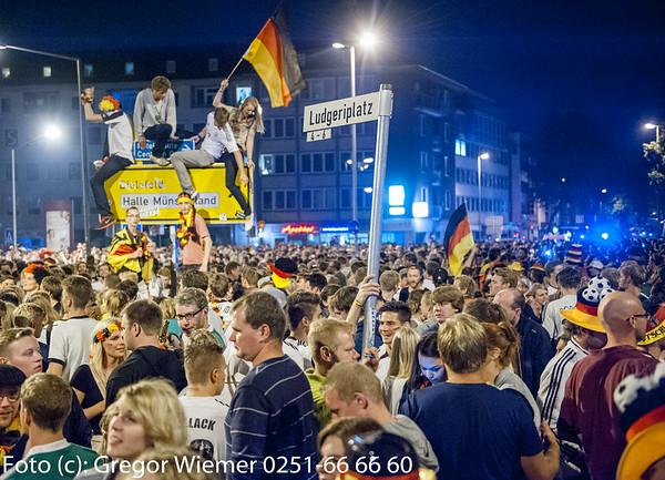 Weltmeister 2014  - Münster Ludgerikreisverkehr
