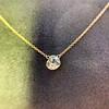 1.02ct Antique Heart Diamond Bezel Pendant 6
