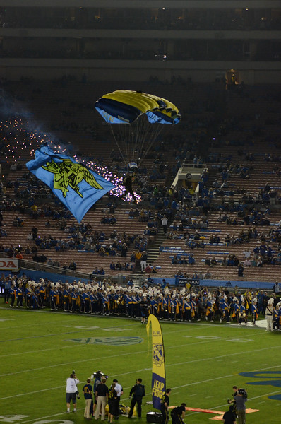 Navy SEAL Leapfrogs into UCLA game