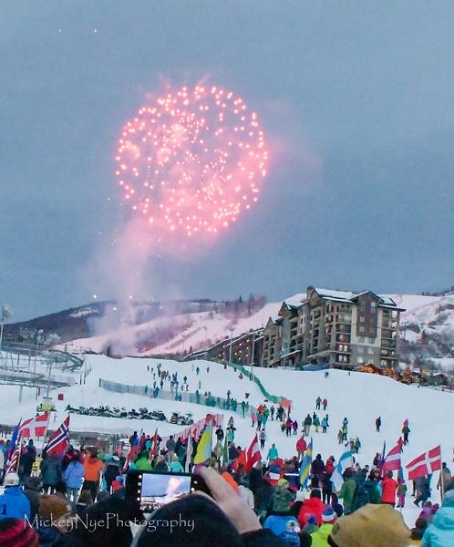 Ski day 3 Evening - Olympians - Fireworks - Turkey Dinner
