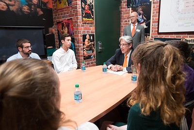 Stamp Scholars meet with President Frenk - August 17, 2016