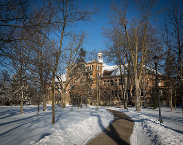 Old Main snow February 2016
