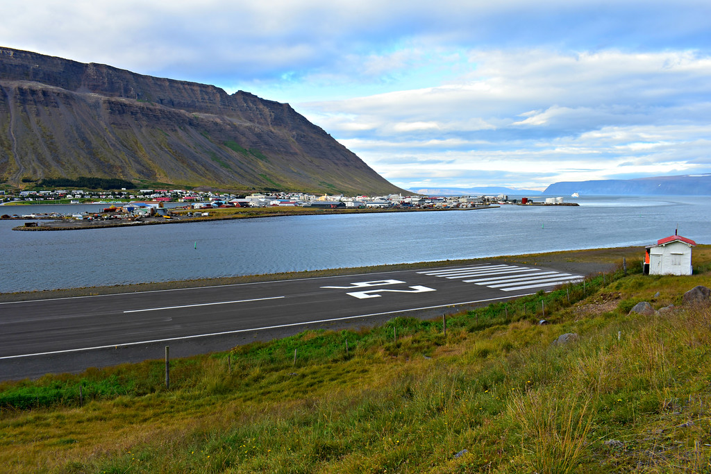 Town of Isafjörður in West Fjords Iceland