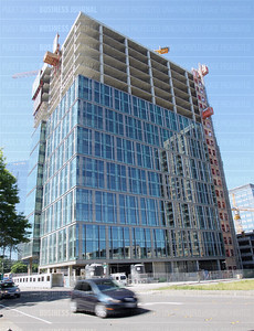 Pictured is the under construction office tower at 929 108th Ave. NE in Bellevue, Washington