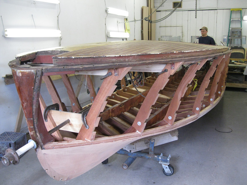 Front port view of bad shear plate.