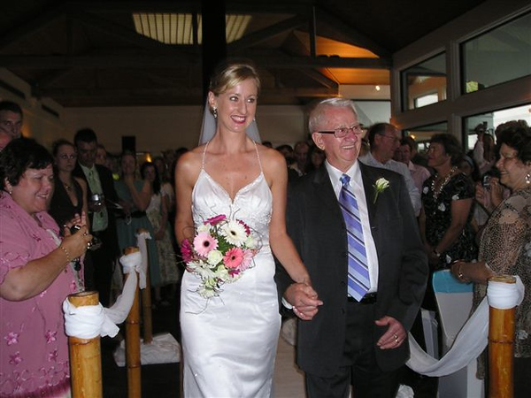 Wedding! proud Father Wes, walking daughter Joanne down the aisle..jpg
