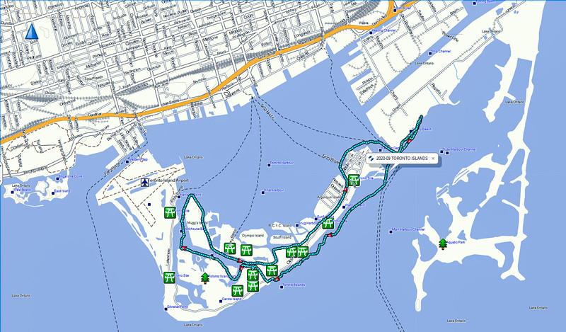 Toronto Islands 12.4 Km