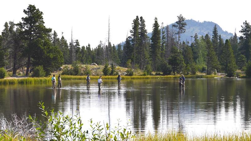 Fly Fishing on Sprague Lake