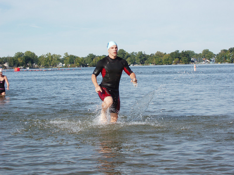 Mike Kotajarvi heads out of the water.
