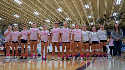 Oak Hill Volleyball vs N Miami Pink Out for a Cure  9-26-18
