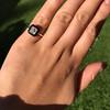 1.19ct Vintage Emerald Cut Diamond Onyx Ring, GIA E VS2 7