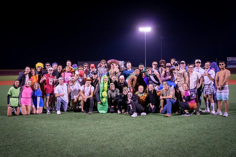 Baseball vs. Soccer Halloween game 2019