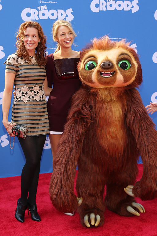 ". Actors Robyn Lively and Blake Lively attend ""The Croods\"" premiere at AMC Loews Lincoln Square 13 theater on March 10, 2013 in New York City.  (Photo by Neilson Barnard/Getty Images)"