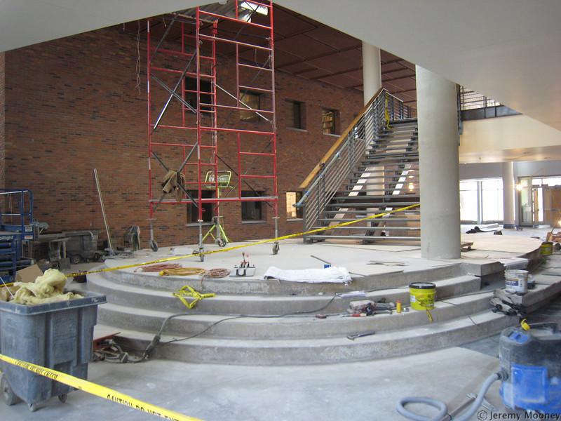 Stairway in atrium area