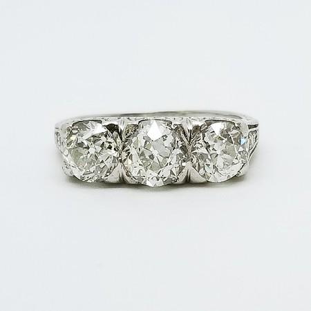 2.20ctw (est.) Antique Old European Cut Diamond Ring - K, SI1/2