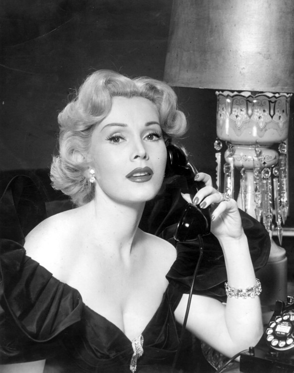 . File - circa 1950:   Zsa Zsa Gabor (1919 - ) the Hollywood star and film actress and most famous of the Gabor sisters. Born in Hungary they all went to the USA to start their careers in films. Zsa Zsa is probably most famous for her marriages,  her jewellery and her lifestyle and she has always courted publicity of any kind.  (Photo by Hulton Archive/Getty Images)