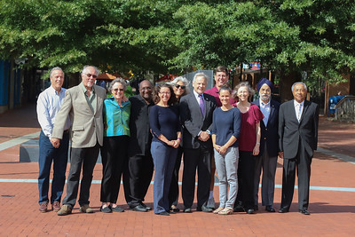 City Council group photo downtown mall